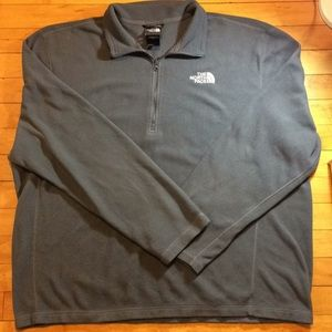The North Face Men's Quarter Zip Green Jacket